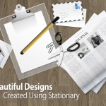 50+ Beautiful Website Designs Using Office Stationery