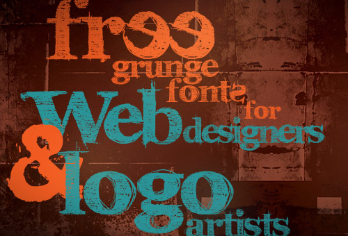 105 Free Grunge Fonts for Web Designers and Logo Artists