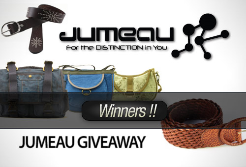 Jumeau Bags Giveaway: Tweet and Win! – Winners!