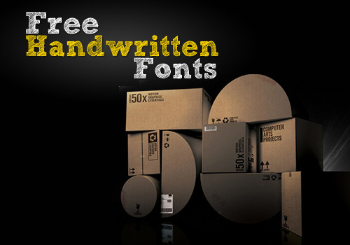 50 Free Handwritten Fonts for Web Designers and Logo Artists