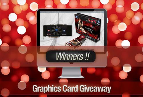 Graphics Card Giveaway: Tweet to Win! – Winners!