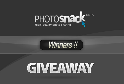 PhotoSnack Premium Licenses Giveaway – Winners!