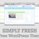 Simply Fresh: A Free WordPress Theme