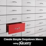 Create Simple Dropdown Menu Using jQuery