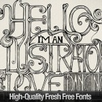 30+ Latest Free Fonts for Your Designs