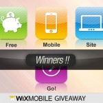 Announcement: Winners of WixMobile Giveaway