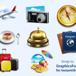 [Freebies] 8 Travel and Vacation Icons