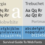 A Survival Guide To Web Fonts