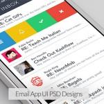 11 Email App UI PSD Designs