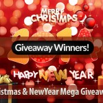 Announcement: Winners of Christmas & New Year Giveaway