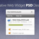 110+ Free Creative Web Widget PSD Designs