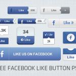 25 Free Facebook Like Button PSD Designs