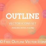 [Freebie] Outline Icon Set: 30 Free Outline Icons