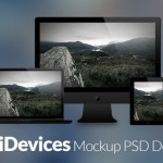 40 Free Apple Devices Mockup PSD Designs