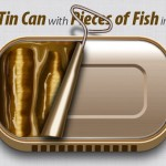 How to Create an Open Tin Can with Pieces of Fish in Adobe Illustrator