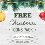 Freebie: Christmas Icon Pack (100 Icons, 2 Styles, EPS, PNG, SVG)