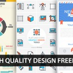 [Design Freebies] Infographic Elements, Newsletter Template & Flat Line Tool Icons