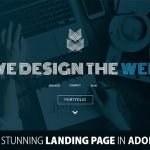 How To Design A Stunning Landing Page For A Portfolio Website With Adobe Muse