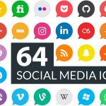 [Freebie] Social Media Icon Pack: 64 Icons, AI, EPS, SVG and PNG