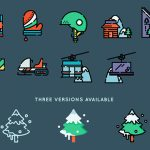 [Freebie] Winter Sports Icon Set: 50 Icons, 3 Styles, SVG and PNG