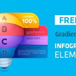 [Freebie] Gradient Style Infographic Elements: AI, EPS, and JPG