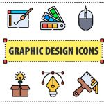 [Freebie] Graphic Design Icon Set: 50 Icons, 3 Styles, SVG and PNG