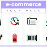 [Freebie] E-Commerce Icon Pack: 20 Icons, 2 Styles, Ai and PNG