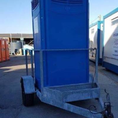portable chem toilet on a trailer5 preview
