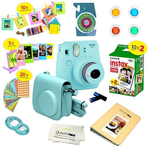 Elvam Camera Accessory Bundles Set Compatible with Fujifilm Instax Mini 8 Mini 8+ Mini 9 Camera