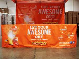 printed table covers - emergenc