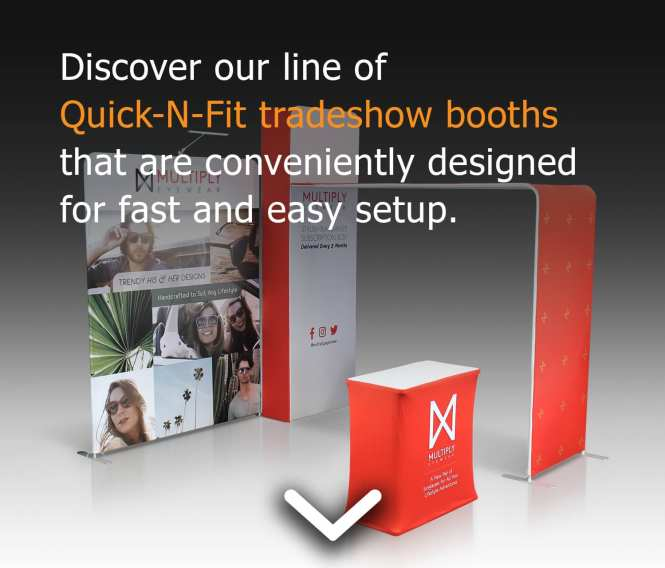 tradeshow booth quick n fit mobile