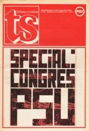 Spécial Congrès PSU In Tribune Socialiste N°635, Novembre 1974