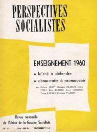 Couverture Perspectives socialistes N°31, Décembre 1959