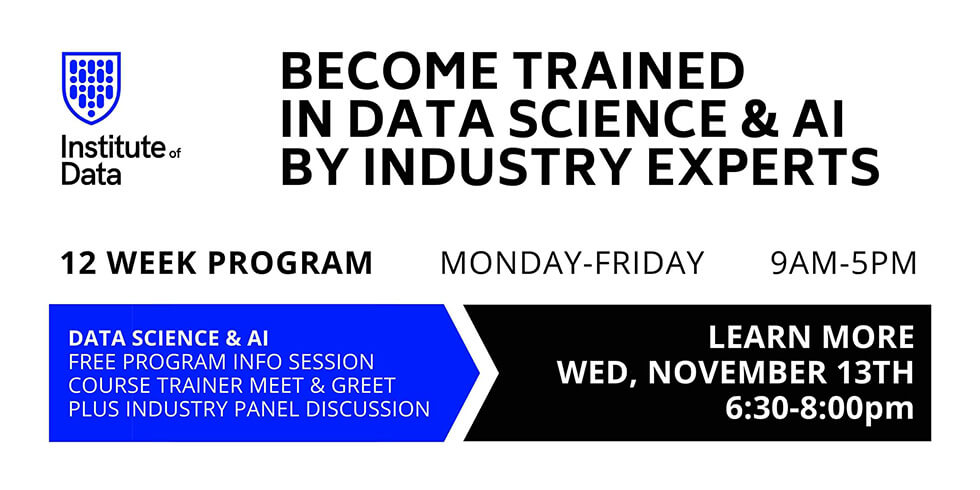 Data Science & AI Career and program info Session 6:30