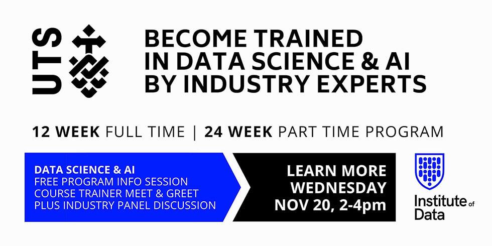 UTS Data Science AI Training Programs Info Session: 2pm