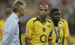 Thierry Henry Kolo Toure et Arsene Wenger jmg soccer academie