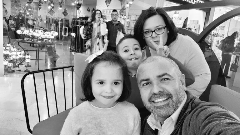 David Mateos y familia