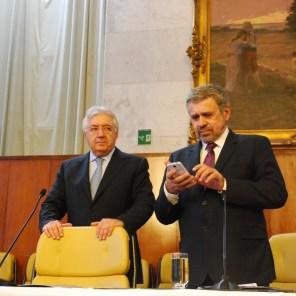 Ministro das Micro e Pequenas Empresas, Afif Domingos, e presidente da Câmara Municipal de São Paulo, vereador José Américo (PT-SP)