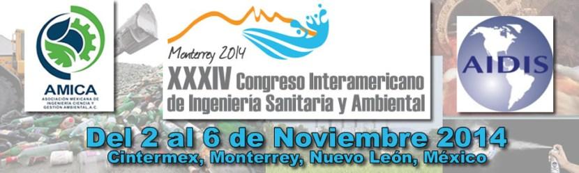 XXXIV Congresso Interamericano de Ingeneria sanitaria y ambiente
