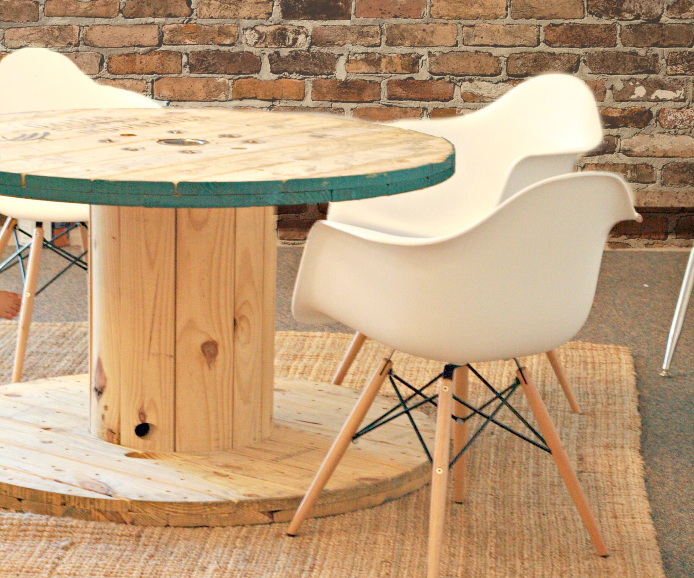 wire spool table 3 steps with