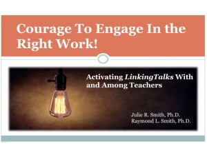courage to engage in the right work - Dr. Ray and Dr. Julie Smith - TLC 2018