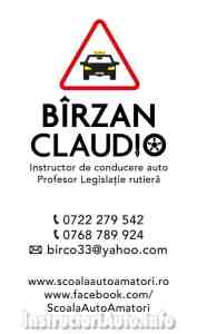 Birzan Claudio - Instructor Auto - Bucuresti