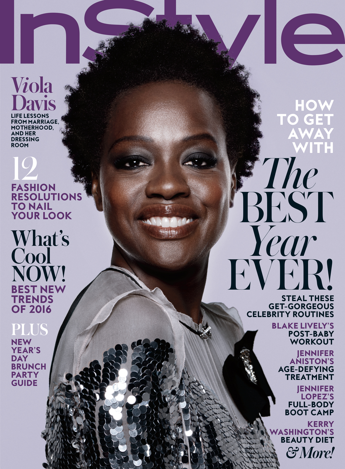 Viola Davis Is InStyles January 2016 Cover Girl