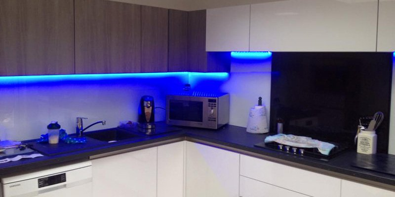 how to install led strip lights under a
