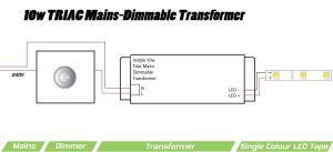 10W TRIAC Dimmable Transformer