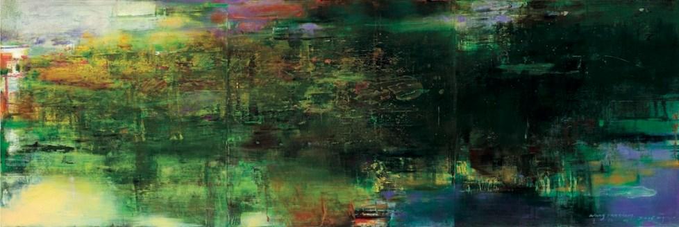 Senza titolo (2016), olio su tela 190 x 570cm