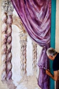 Lenzini al lavoro nella sala Bologna a Belém del Parà (Brasile)