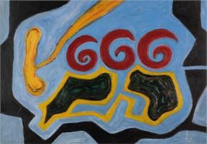 Il numero della Bestia (1997), acrilico su cartone cm 70x100, courtesy museo mmmac