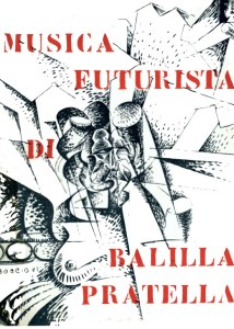 Frontispiece of Bongiovanni's edition of Pratella's Futurist Music with illustrations by Boccioni