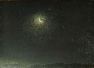 7.Luna mancante avanti l'alba, Napoli, 1871, Olio su tela, Roma, Galleria Nazionale d'Arte moderna e contemporanea